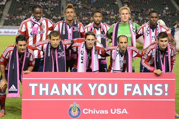 Chivas USA's lineup in October, 2012.  Credit: David Bernal - ISIPhotos.com