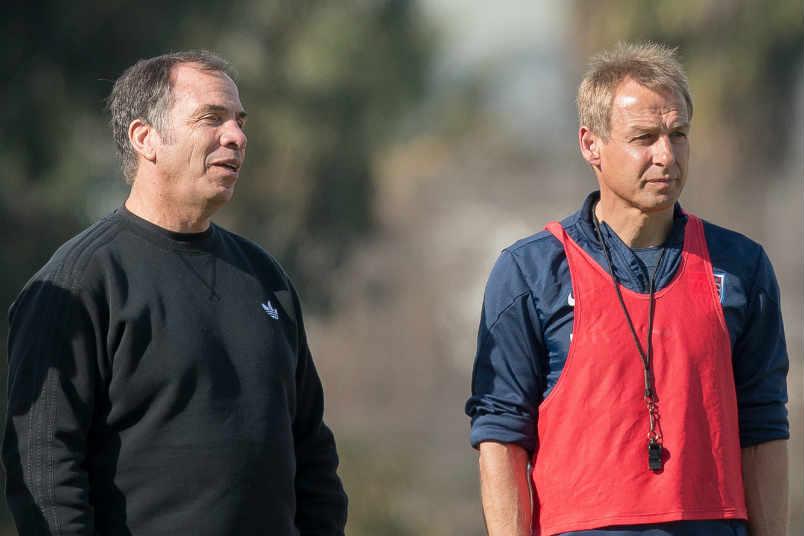 usmnt-coach-bruce-arena-jurgen-klinsmann-training-soccer