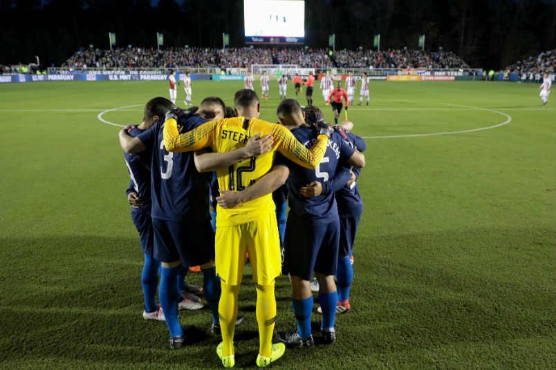 The USMNT squad against Paraguay.