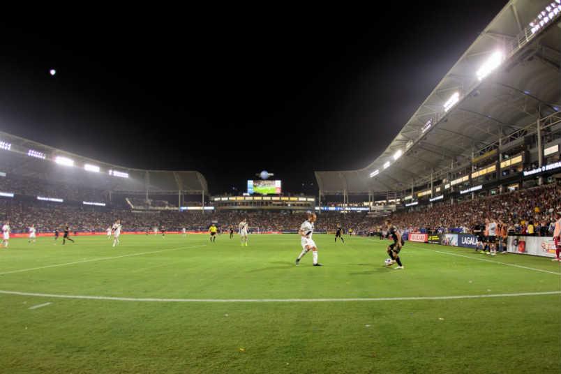 The LA Galaxy in action at StubHub Center
