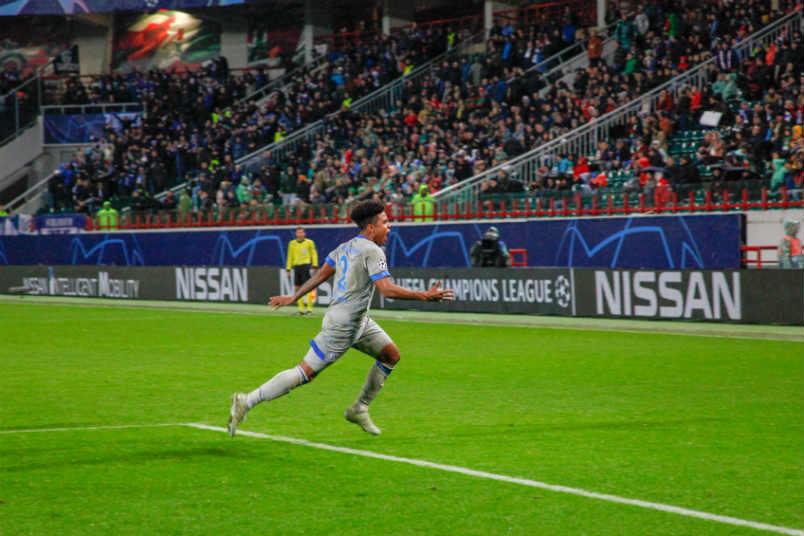 Schalke goal scorer Weston McKennie