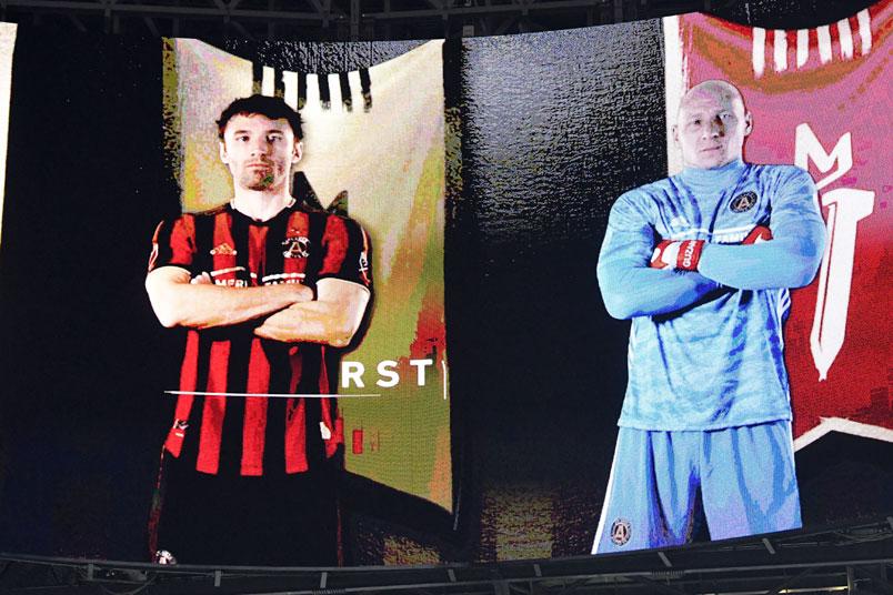 atlanta brad guzan scoreboard mercedes benz arena