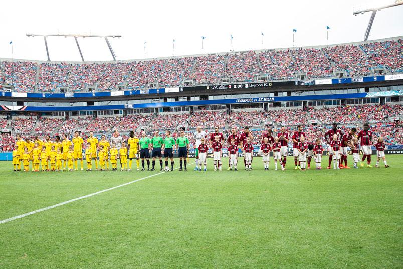 bank of america stadium fiorentina liverpool friendly