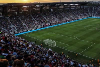 Gridiron lines in MLS stadiums