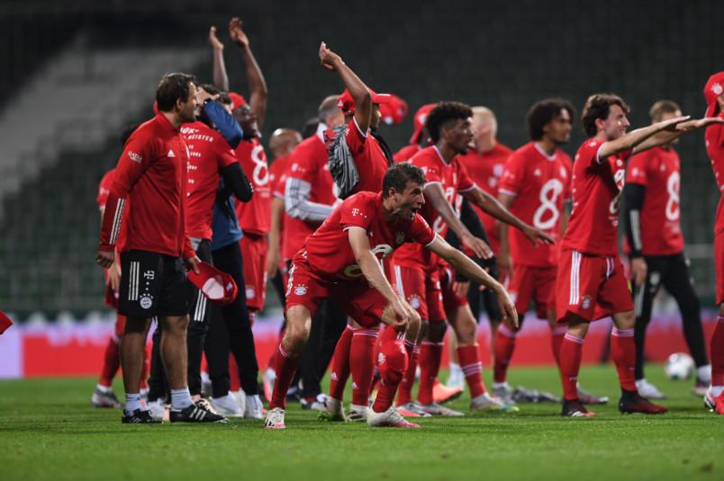 bayern munich celebrates clinching the 2019-20 title
