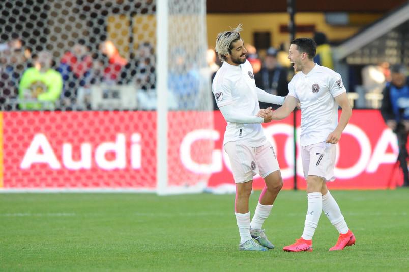 inter miami players Rodolfo Pizarro and Lewis Morgan