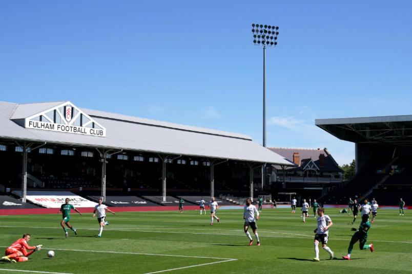 fulham craven cottage stadium shot during july 18 2020 game against sheffield wednesday